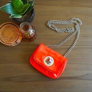 Material Girl Neon Pink/Orange Mini Bag with Chain